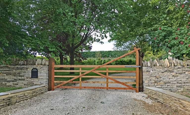 Very smart new gate and repaired walls